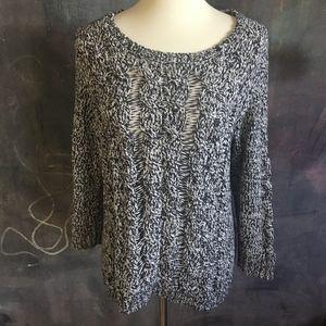 H&M Blue/White Fisherman Cableknit Sweater
